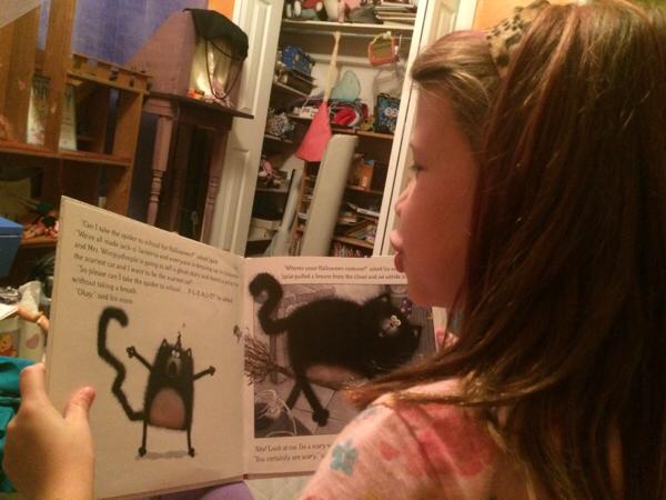 Medea Reads Scaredy-Cat, Splat!